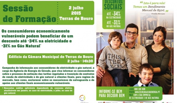 """Sessão de esclarecimento """"Descontos Sociais de Energia"""" a 2 de julho"""