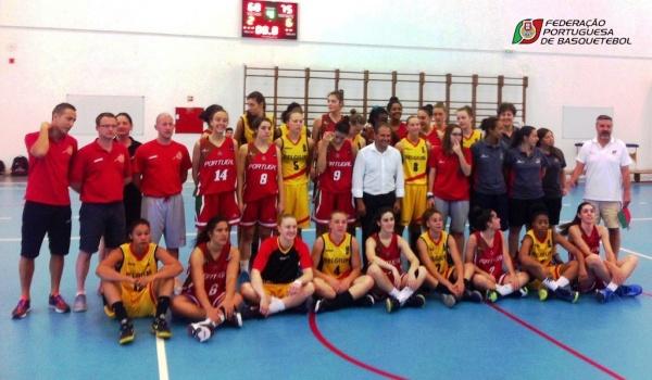 Seleção Nacional feminina de Basquetebol de sub-18 em Terras de Bouro