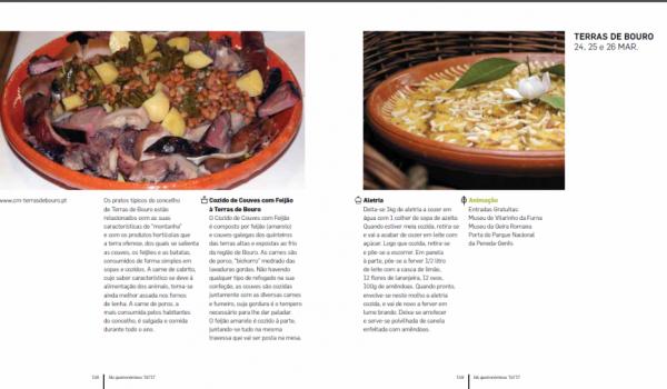 """""""Fins de Semana Gastronómicos"""" em Terras de Bouro a 24, 25 e 26 de março"""