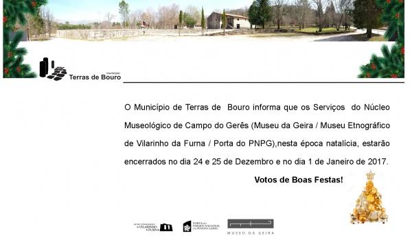Aviso: Núcleo Museológico de Campo do Gerês