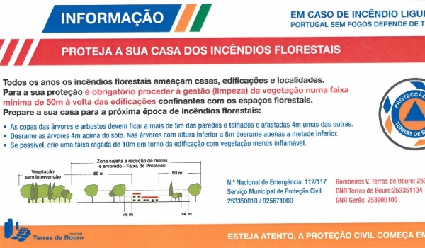 Informação - Proteja a sua casa dos incêndios florestais