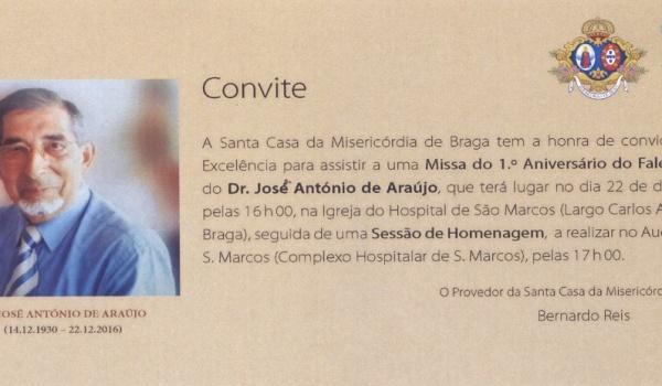 Homenagem ao Exmo. Sr. Dr. José António de Araújo