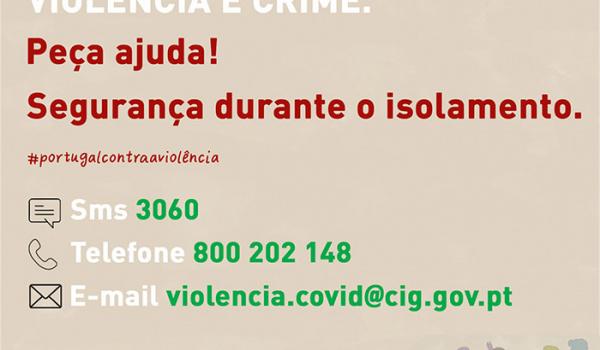 """Apoio a Vítimas de Violência Doméstica através da campanha """"Segurança no Isolamento"""""""