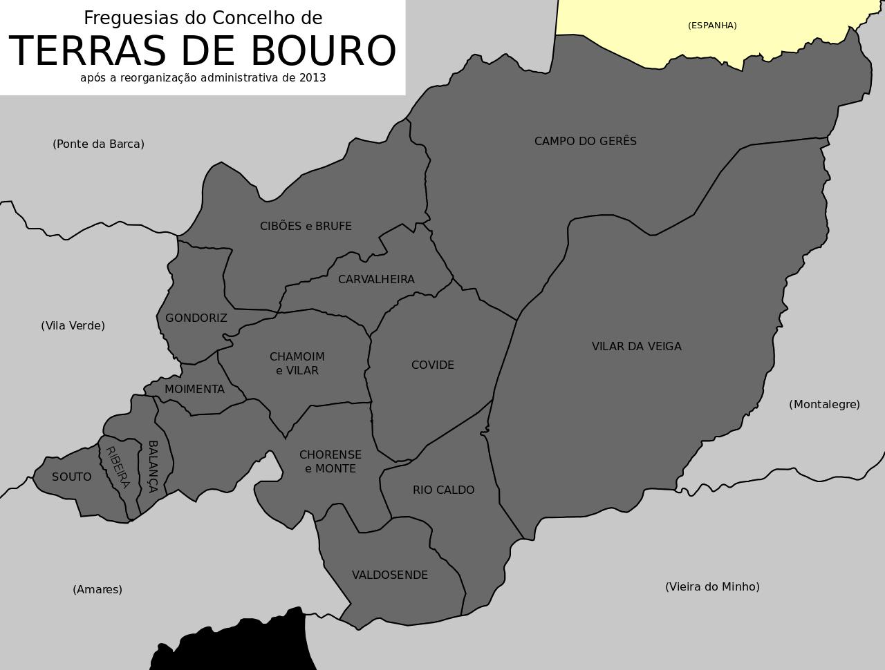 mapa de terras de bouro Câmara Municipal de Terras de Bouro   JUNTAS DE FREGUESIA mapa de terras de bouro