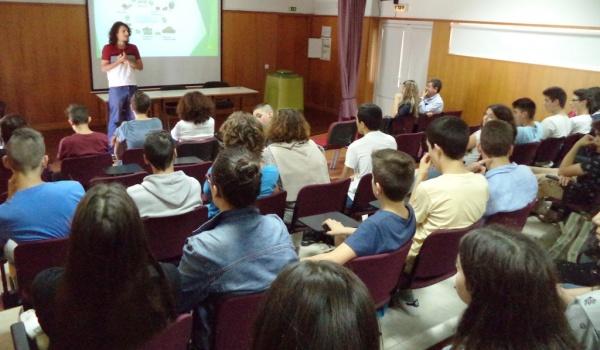 Escola Básica e Secundária de Terras de Bouro recebeu ação de sensibilização sobre recolha seletiva e compostagem doméstica