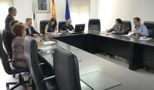 Cerimónia de assinatura do Tratado de Limites de Fronteira entre Terras de Bouro, Lóbios, Arcos de Valdevez e Ponte da Barca