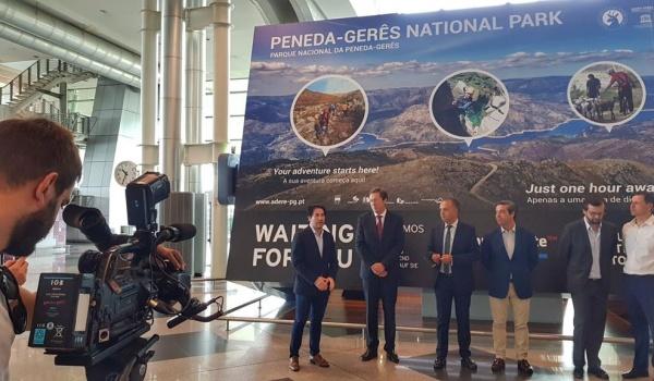 Inauguração da tela promocional do Parque Nacional da Peneda-Gerês no  Aeroporto Sá Carneiro