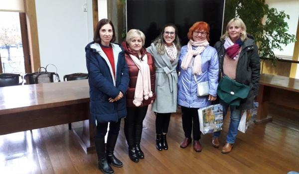 Grupo do  Projeto Erasmus+ recebido nos Paços do Concelho
