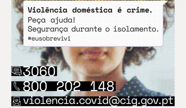Plano de reforço de prevenção e combate à violência doméstica | divulgação da campanha #EUSOBREVIVI |