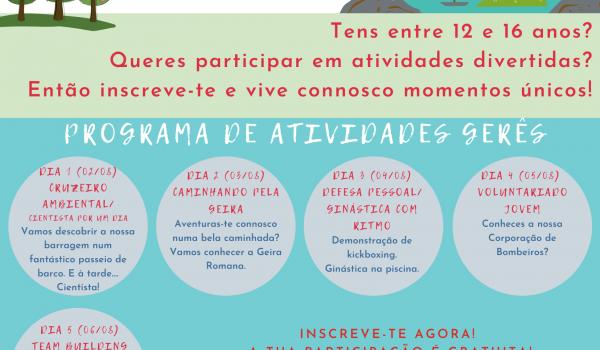 """CLDS 4GEIRA organiza atividades  """"Verão na Geira – Férias em Ação!"""""""